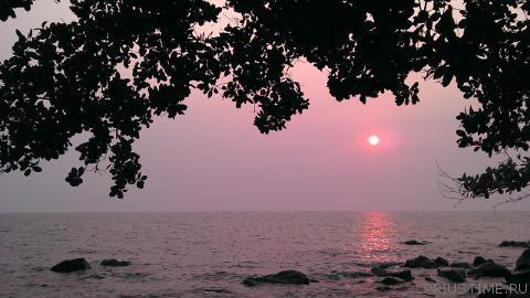 Закат в Тайланде